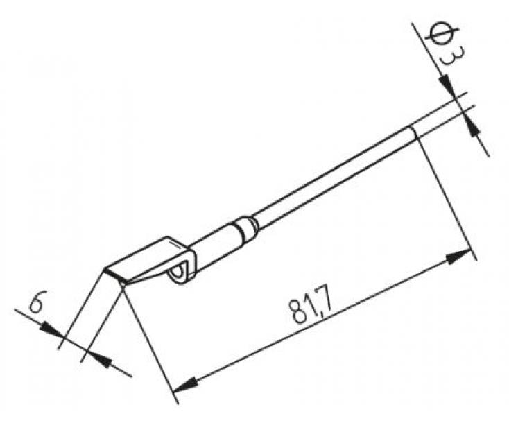 Наконечники для термопинцета CHIP TOOL VARIO изогнутые Ersa 452EDLF060