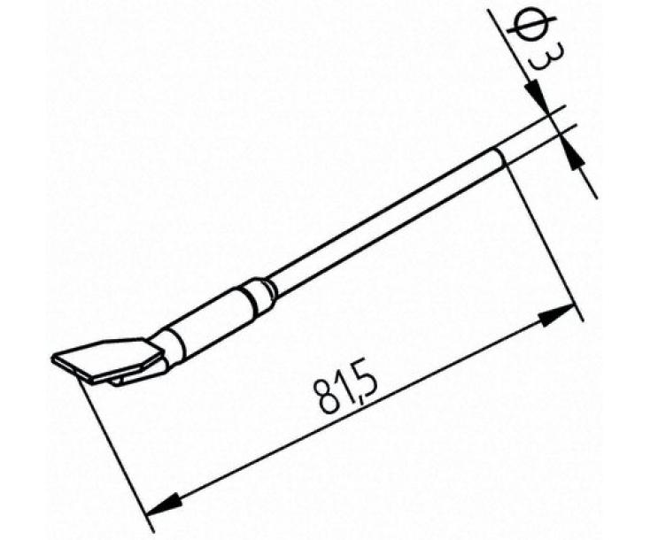 Наконечники для термопинцета CHIP TOOL VARIO Ersa изогнутые 452FDLF175 (422FD5)