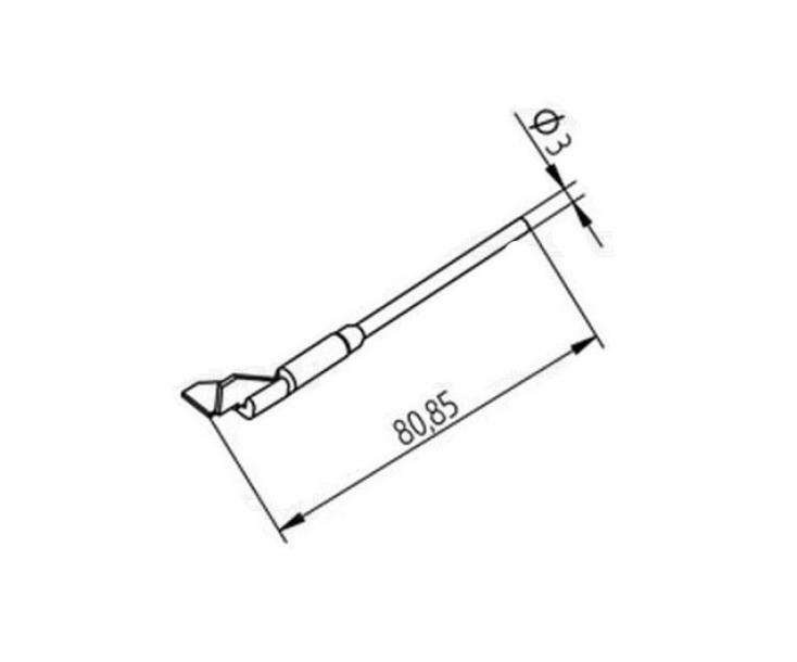 Наконечники для термопинцета CHIP TOOL VARIO угловые Ersa 452QDLF100 (422QD5)