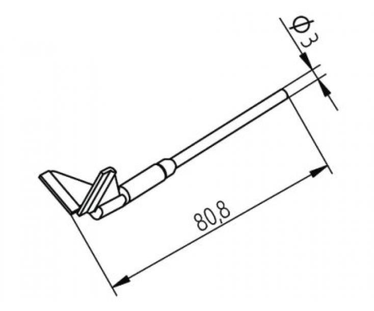 Наконечники для термопинцета CHIP TOOL VARIO угловые Ersa 452RDLF150 (422RD2)