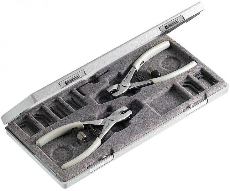 Набор щипцов для стопорных колец 15 предметов Facom 470.MT