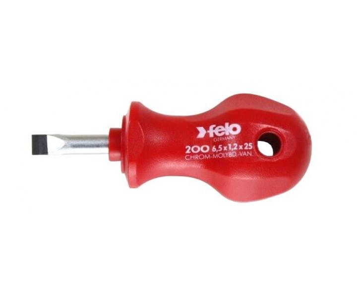 Отвертка Felo profi серия 200 5,5 x 58 шлицевая укороченная 20055090