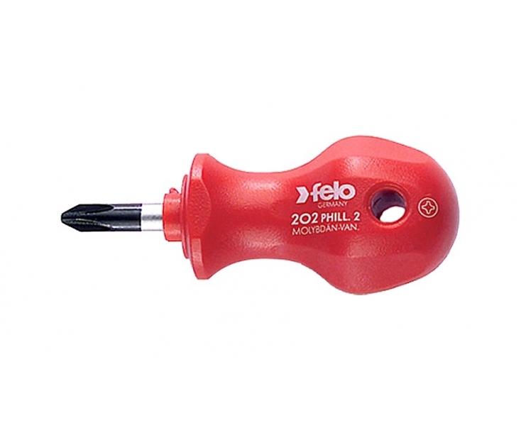 Отвертка Felo Stubby крестовая Phillips короткая PH2x25 20202090