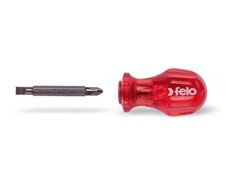Отвертка укороченная SL/PH со сменным жалом Felo PH2 x 6,0 х 60 32696511 в блистере