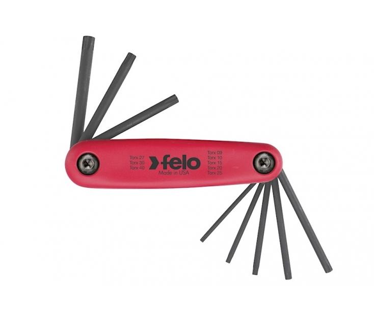 Набор штифтовых ключей раскладной TORX Felo 348 088 01 8 шт.
