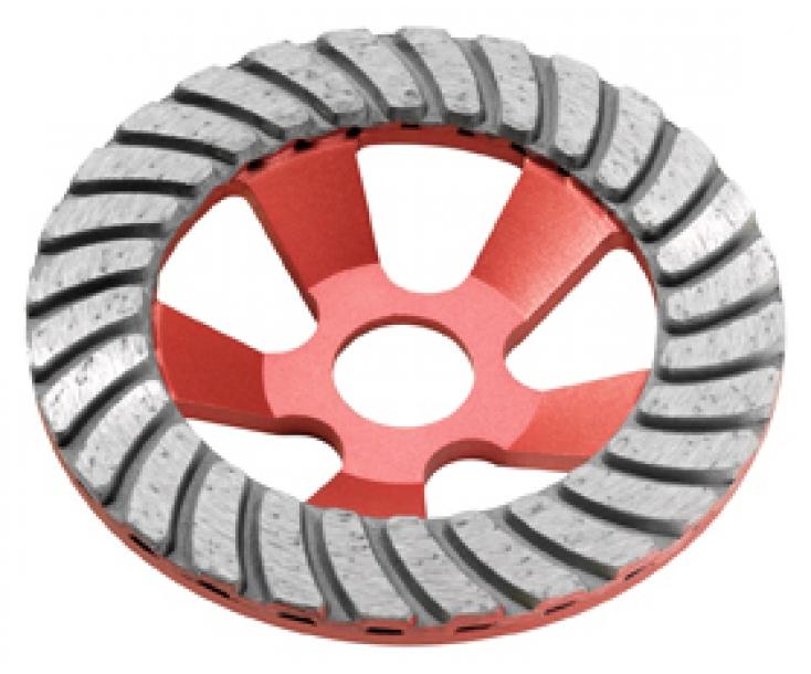 Алмазный тарельчатый шлифовальный круг 125x22,2 мм Flex Turbo-Jet 348899