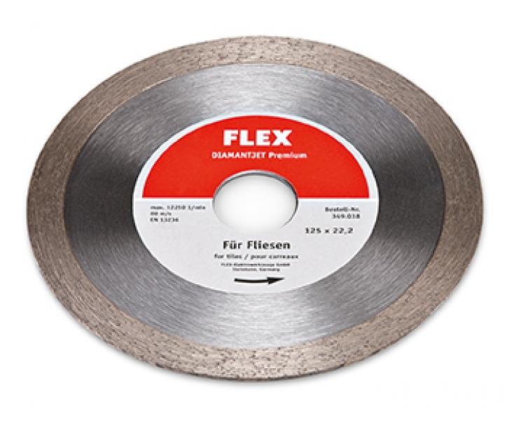 Алмазный отрезной диск 125 x 22,2 мм Flex Diamantjet Premium 349038 по плитке