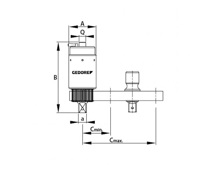 "L-образная реакционная опора для модели DVV40, 1"", RL-DVV40 Gedore 2653184"