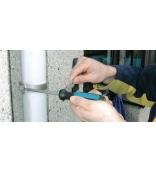 Отвертка шлицевая ударная 7.0Х1.0х125 Hazet 801U-70 с гайкой для ключа