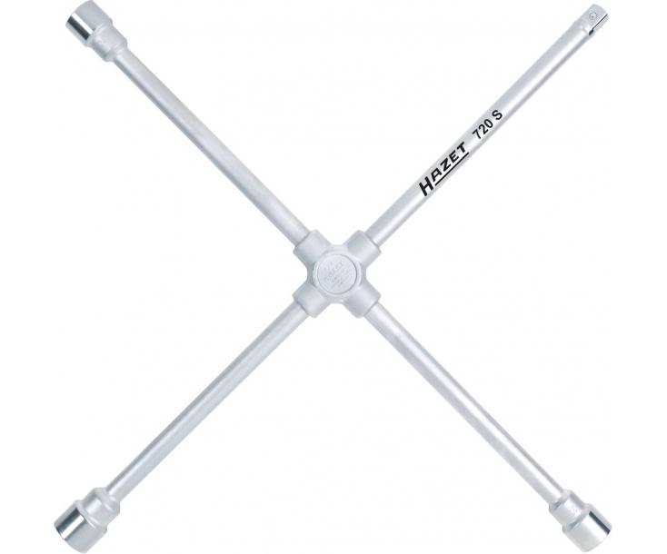 """Ключ баллонный автомобильный крестовый четырехходовой 24х27х32 мм х квадрат 3/4"""" Heyco 720S"""