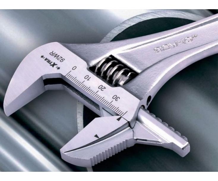 Ключ гаечный разводной со съемными губками хромированный 34 мм Irega 92WR(CN-MM-P)/CE-8