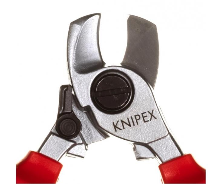 Ножницы для резки кабелей с раскрывающей пружиной VDE Knipex KN-9526165SB в блистере
