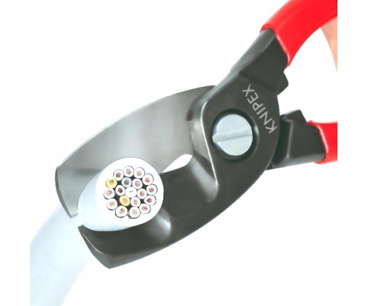 Ножницы для резки кабелей с двойными режущими кромками Knipex KN-9512200SB в блистере