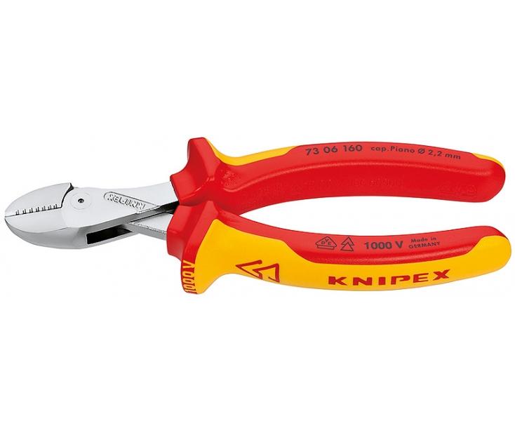 KNIPEX X-Cut VDE компактные кусачки боковые с высокой передачей усилия KN-7306160