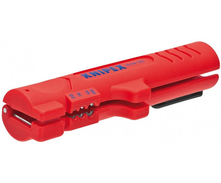 Инструмент для снятия оболочки с плоского и круглого кабеля Knipex KN-1664125SB