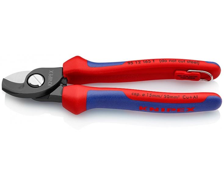 Ножницы для резки кабелей Knipex KN-9512165TBK со страховочным креплением