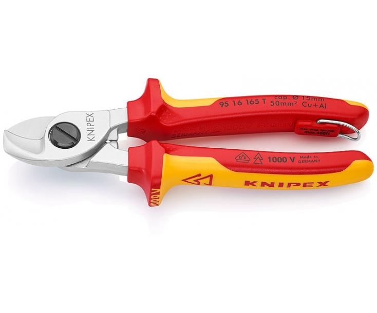 Ножницы для резки кабелей VDE Knipex KN-9516165T со страховочным креплением