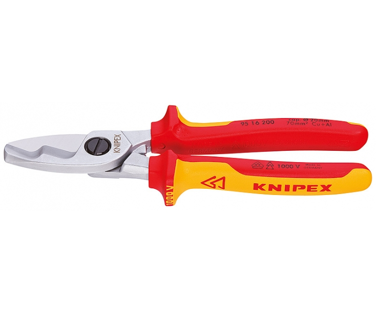 Ножницы для резки кабелей с двойными режущими кромками VDE Knipex KN-9516200