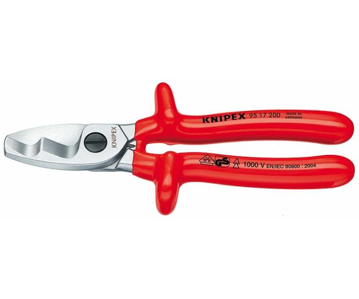 Ножницы для резки кабелей с двойными режущими кромками VDE Knipex KN-9517200