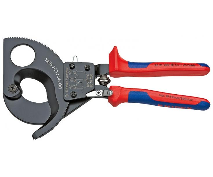 Ножницы для резки кабелей (по принципу трещотки) Knipex KN-9531280