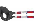 Ножницы для резки кабелей (по принципу трещотки) с выдвижными рукоятками Knipex KN-9532100