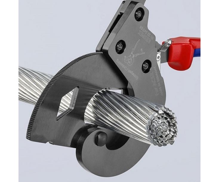 Ножницы по принципу трещотки для резки кабелей ACSR Knipex KN-9532340SR