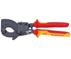 Ножницы для резки кабелей по принципу трещотки VDE Knipex KN-9536250