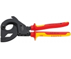 Ножницы (по принципу трещотки) VDE для резки кабеля со стальным армированием (SWA) Knipex KN-9536315A