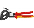 Ножницы для резки кабелей по принципу трещотки VDE, 3 передачи Knipex KN-9536320