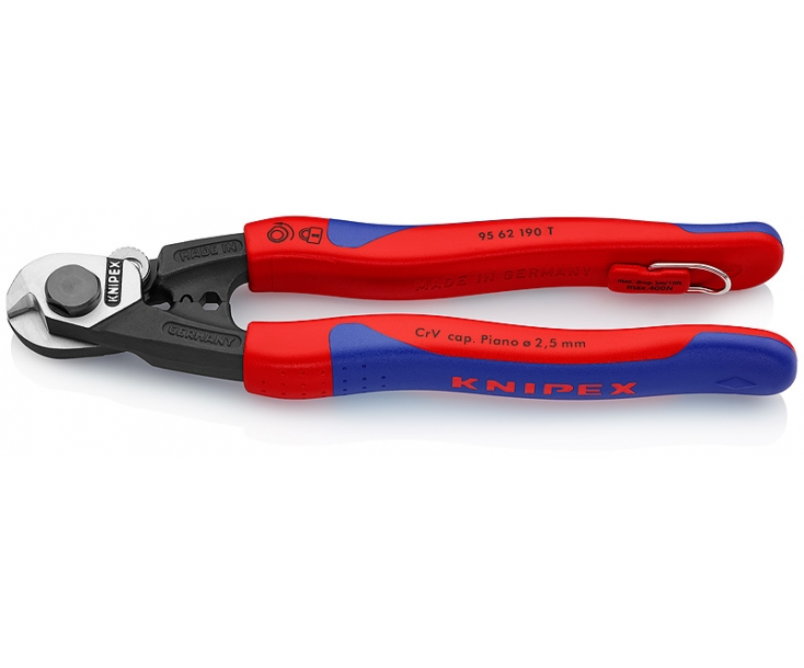 Ножницы для резки проволочных тросов кованые Knipex KN-9562190T