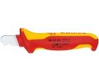 Нож для удаления оболочки круглого кабеля VDE, изолированный Knipex KN-985303