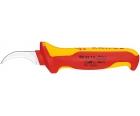 Нож для удаления оболочки кабеля с секторными жилами VDE Knipex KN-985313