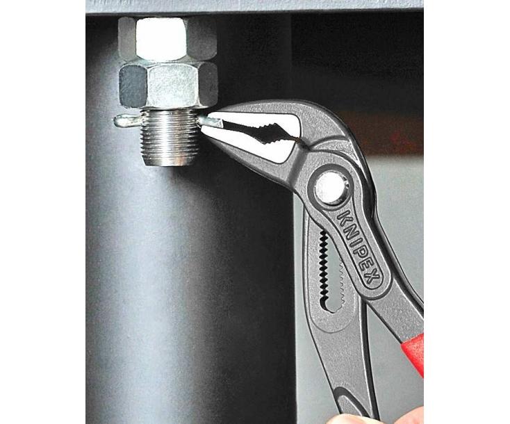 KNIPEX Cobra ES сантехнические клещи, особо тонкие KN-8751250SB в блистере