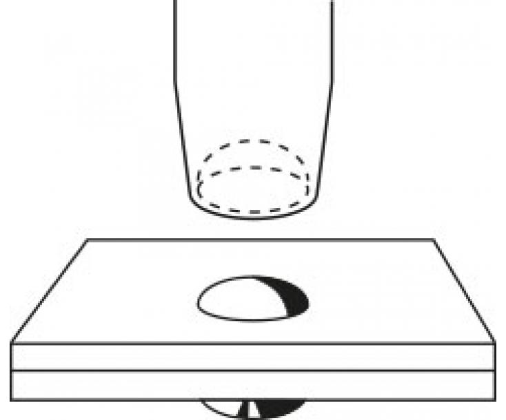 Обжимка для заклепочной головки согласно DIN 660 Rennsteig RE-4460100