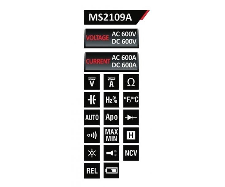 Клещи токоизмерительные Mastech MS2109A