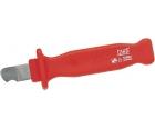 Нож VDE с фиксированным прямым лезвием и шлифованным полукругом для полимерного кабеля 185 мм NWS 2041