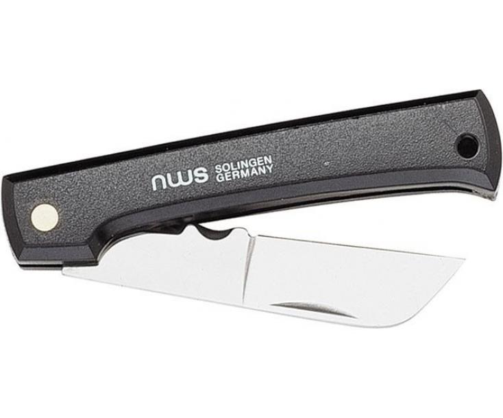 Нож кабельный складной с пластмассовой ручкой с прямым и круглым скребком 200 мм NWS 963-7-80