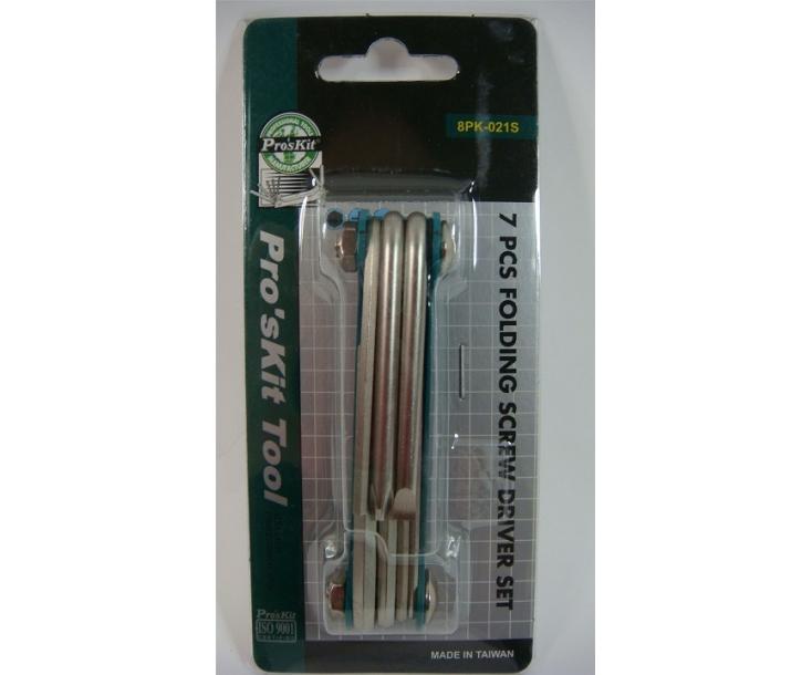 Набор штифтовых ключей раскладной ProsKit 8PK-021S