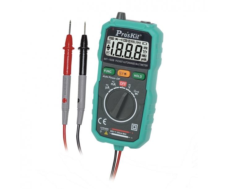 Мультиметр цифровой карманный ProsKit MT-1508