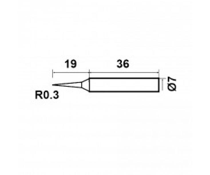 Жало керамическое для паяльника ProsKit 9SC116N-B