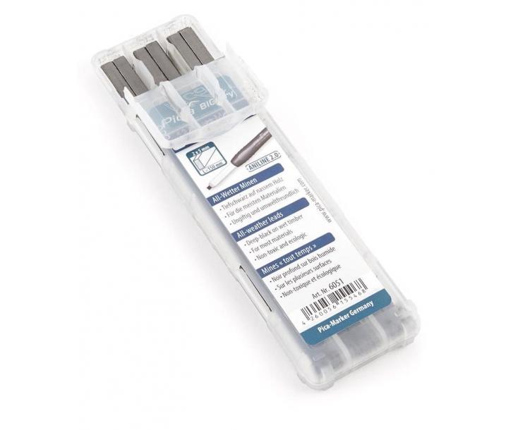 Грифели всепогодные Aniline для карандаша Pica BIG Dry 6051 12 пр.