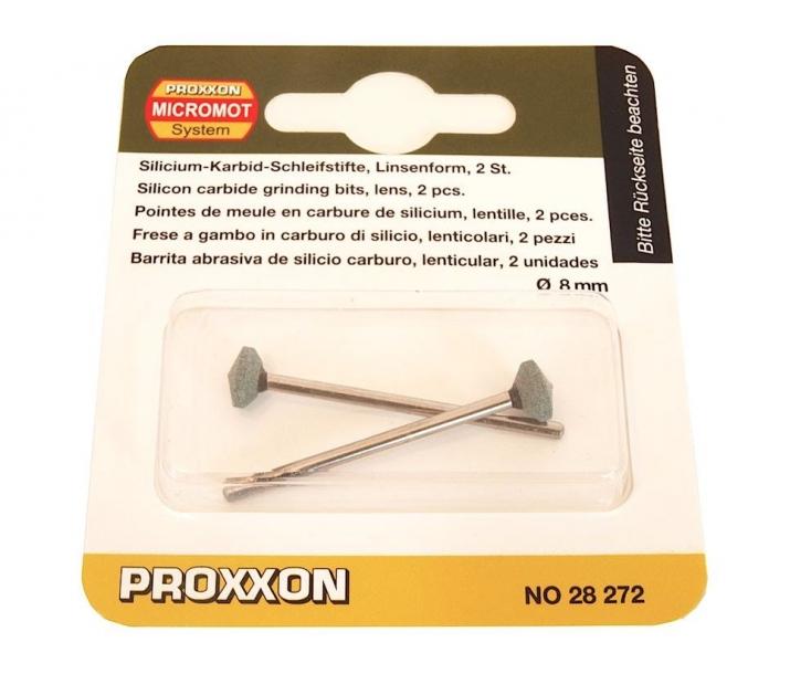 Боры карборундовые (линза Ø8 мм) для стекла и керамики Proxxon 28272 2 шт.