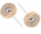 Насадки полировальные замшевые (диск Ø 22 мм) Proxxon 28298 2 шт.