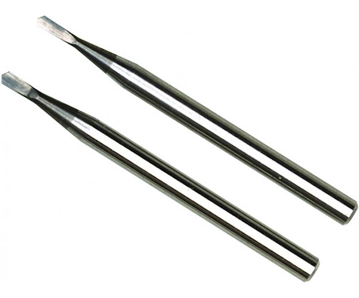 Боры твердосплавные игольчатые 1.0 + 1.2 мм Proxxon 28320 2 шт.