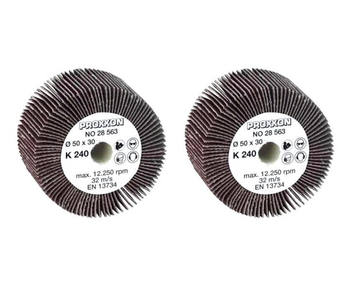 Валец шлифовальный веерный Ø 50 мм K240 Proxxon 28563 2 шт.