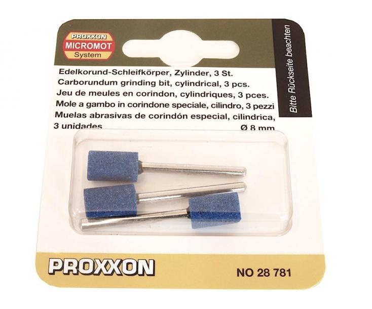 Насадки карборундовые (цилиндр Ø 8 мм) К120 Proxxon 28781 3 шт.