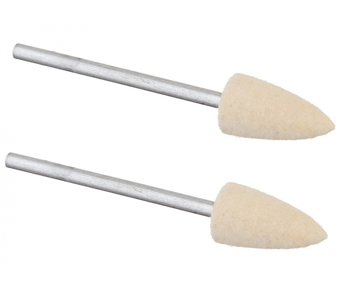 Насадки полировальные войлочные (пуля Ø 8 мм) Proxxon 28801 2 шт.