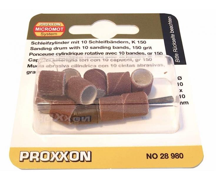 Цилиндры шлифовальные Ø 10 мм К150 с держателем Proxxon 28980 10 шт.