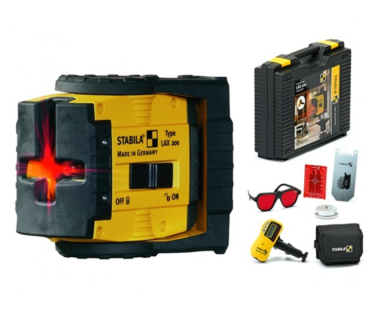 Нивелир лазерный - построитель плоскостей LAX 200 + REC 210 Stabila 17283