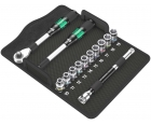 8006 SC 1 Zyklop Hybrid - набор с трещоткой, привод 1/2 Wera WE-004090 13 предметов